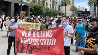 Hundreds march in New Orleans, protesting George Floyd's death during arrest