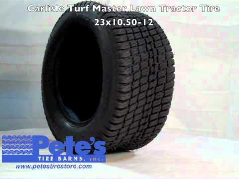 Carlisle turf master lawn tractor tire youtube - Garden tractor tires 23x10 50 12 ...