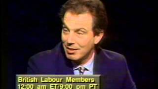 Tony Blair and Gordon Brown discuss British Labour Party in 1993
