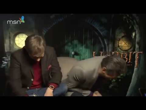 Hobbit MSN interview with Andy Serkis and Martin Freeman