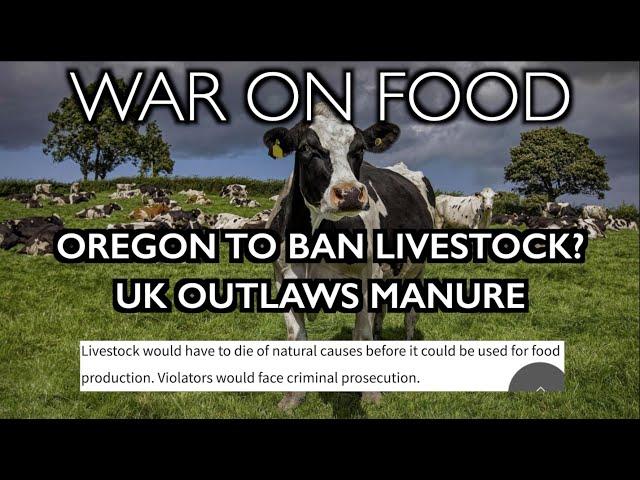 Oregon Bill to BAN Livestock - Stunning War on Farming/Ranching