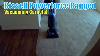 Bissell Powerforce Bagged Vacuum In Use