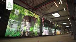 Metamorfose van okapi-tram Diergaarde Blijdorp - Metamorphose okapi-tram Rotterdam Zoo