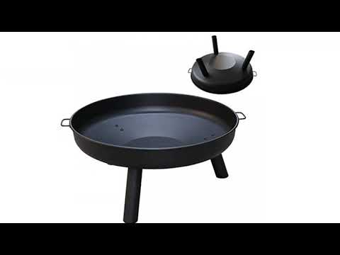 Cast Iron Fire Pot for Garden//Outdoor//Grass//Snow//Patio//BBQ wolketon Fire Pits//Fire Bowls//Brazier with Two Side Safe Handles 82cm Diamater Burner with Folding Portable Tripod Legs for Wood Charcoal