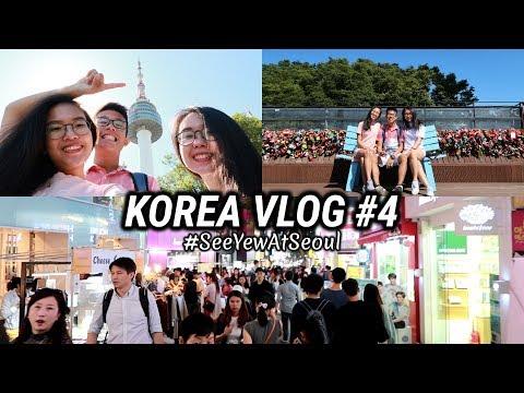 KOREA VLOG #4 | NAMSAN TOWER, SEOUL STATION & STREET FOOD 🚈 🍢