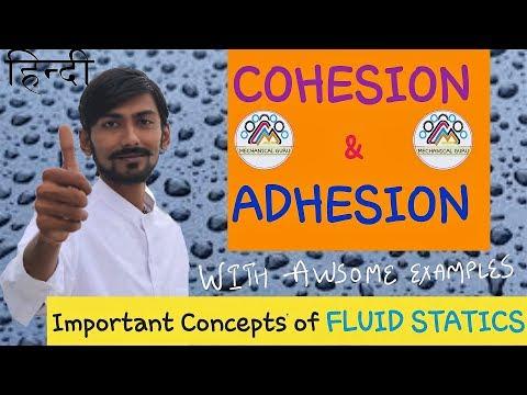 [HINDI] COHESION & ADHESION ~ RELATION WITH VISCOSITY, CAPILLARITY & WETTING CHARACTERISTICS.