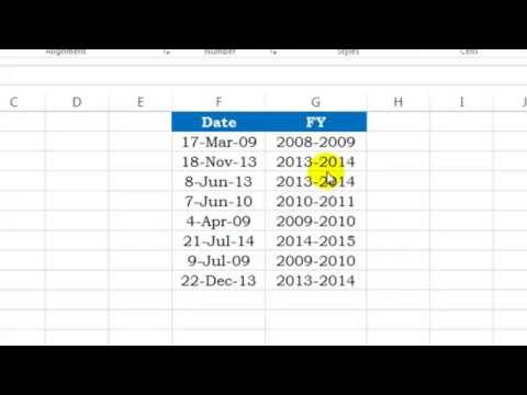 Excel Lesson 22 - Financial Year Formula