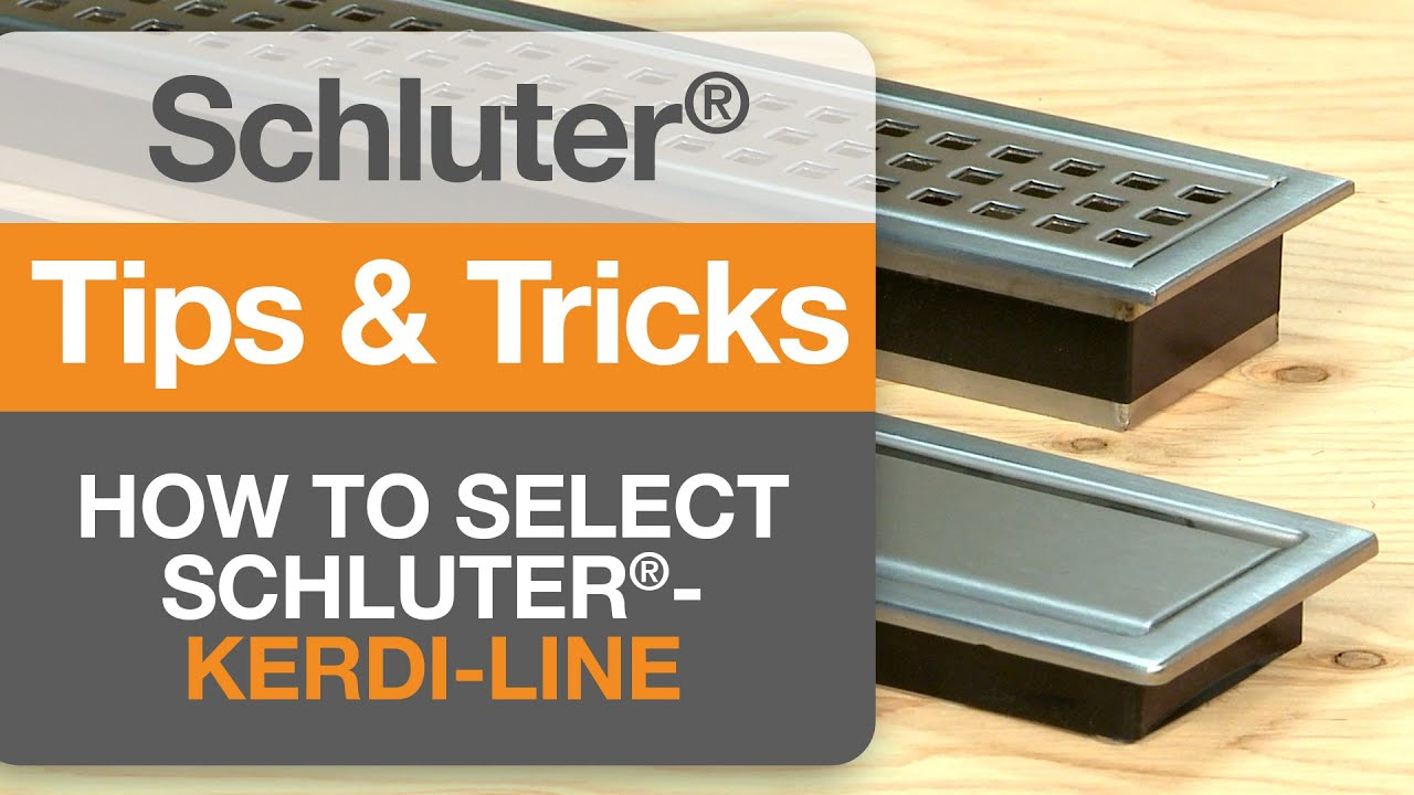 How To Select Schluter Kerdi Line Youtube