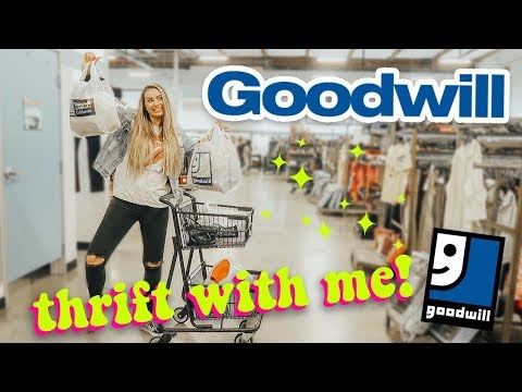 thrift with me + huge goodwill haul! best goodwill trip ever!