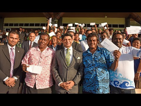 Fijian Acting Prime Minister officiates at the handing over of Priority Taxi Permits