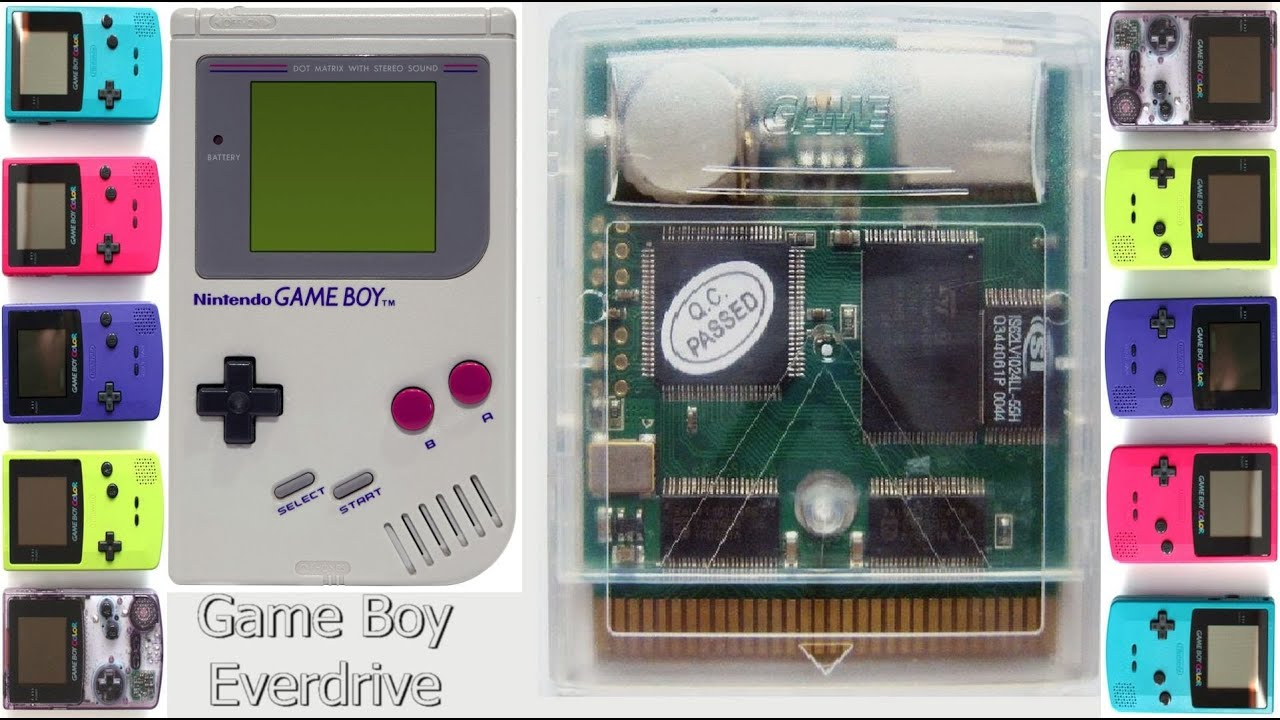 Gameboy color palettes - Gamerade Game Boy Gb Color Everdrive Flash Card Adam Koralik