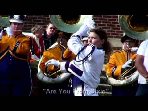 """Tennessee Tech Marching Band """"Fanfare"""" and """"Are You From Dixie"""""""