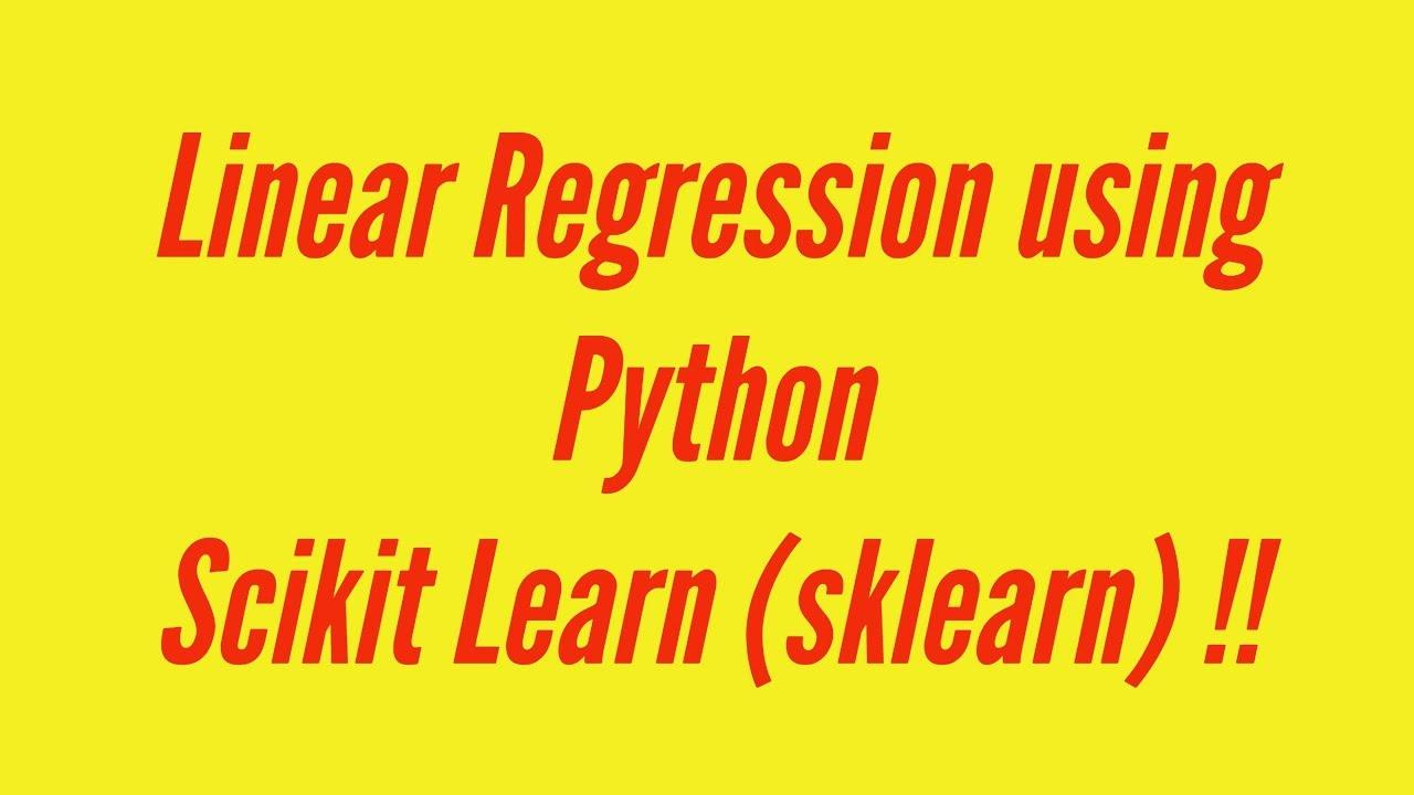 Linear Regression Using Python scikit-learn - DZone AI