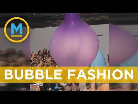 Watch this balloon transform into a dress on the runway | Your Morning