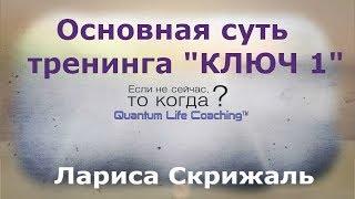 Основна суть тренінгу - ''Ключ1. Людина - інструкція до застосування''''
