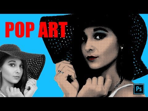 Photoshop Tutorial: How to make a POP ART portrait from a Photo! #GSFXMentor #gsfxmentor thumbnail