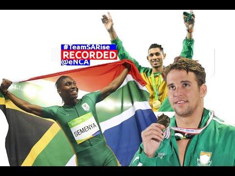 Team SA arrives from the Olympics