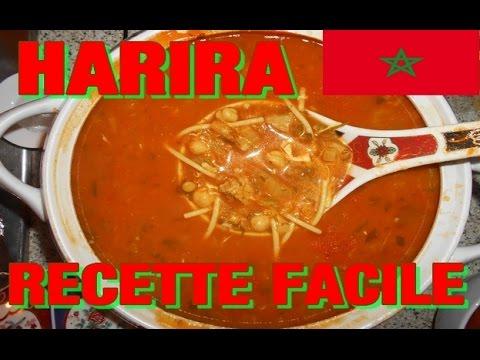 harira soupe marocaine recette facile cuisine marocaine youtube. Black Bedroom Furniture Sets. Home Design Ideas