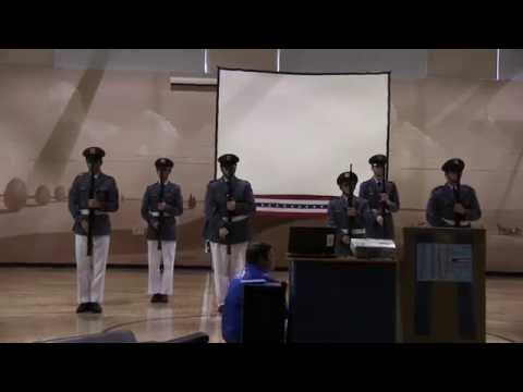Howe Military Academy Drill Team - Veterans' Day 2014