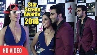 Aadar Jain And Anya Singh At Star Screen Awards 2018   Star Plus Awards Show 2018