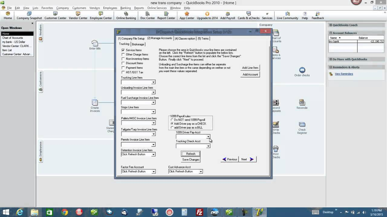 Dr Dispatch Transportation Software - QuickBooks 1099 Drivers - Trucking  and Brokerage Software