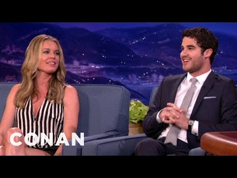 Darren Criss Met Rebecca Romijn At Comic-Con