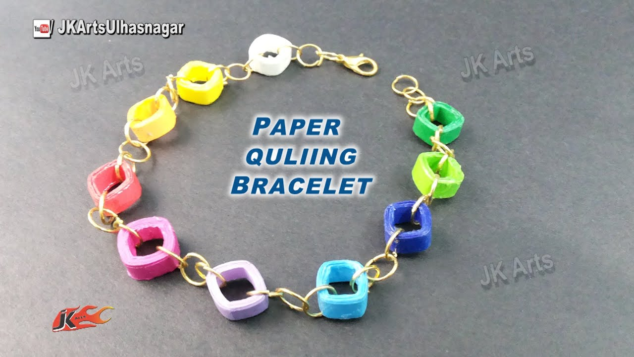 DIY Paper Quilling Bracelet / Friendship Belt | How to make | JK ... for How To Make Quilling Shapes  55dqh