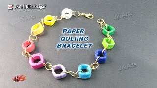 DIY Paper Quilling Bracelet /  Friendship Belt | How to make | JK Arts 920