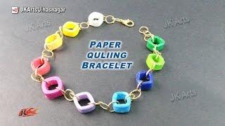 DIY Paper Quilling Bracelet /  Friendship Belt | How to make | JK Arts 920