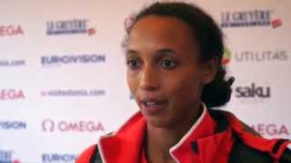 Malaika Mihambo (GER) after winning Gold in the Long Jump