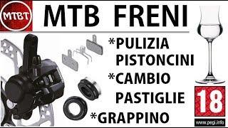 MTB guida manutenzione e sostituzione pastiglie freni a disco come lubrificare i pistoncini tutorial