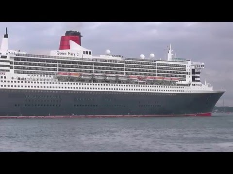 3 Cunard Queens and Celebrity Eclipse depart Southampton 10/5/16