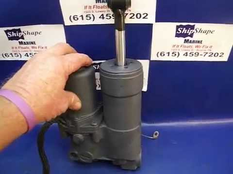 12 3 14 sold johnson power trim youtube for Power trim motor for johnson outboard