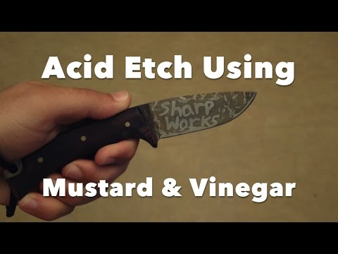 Forced Patina: Etching With Mustard And Vinegar