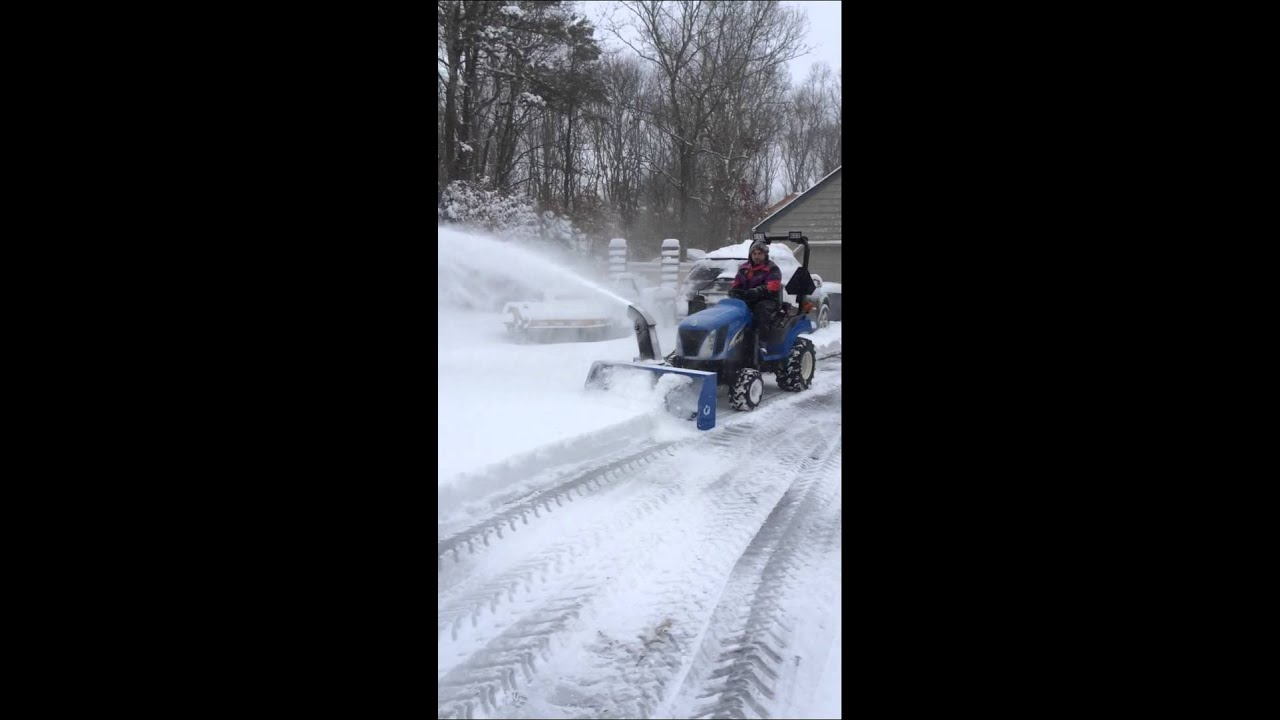 New Holland Tractor Snowblower