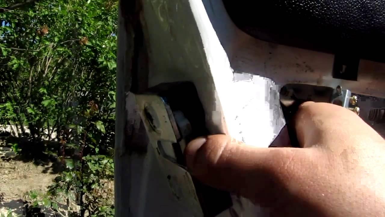 Заменил замок двери. ваз 2107 - YouTube