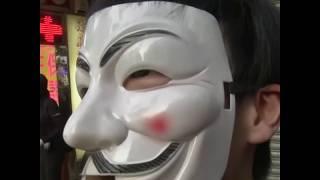 10月6日民众在香港尖沙咀街头组成人链
