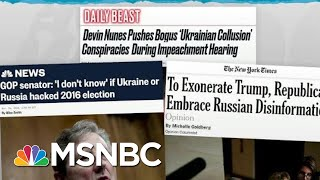 Trump Team Still Stoking Ukraine Story Despite US Intel Warning | Rachel Maddow | MSNBC