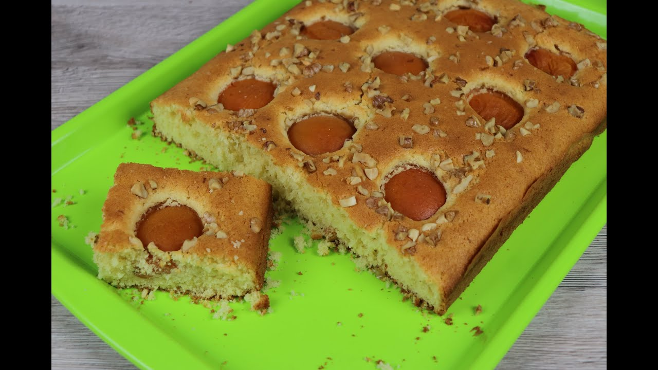 Очень легкий рецепт  абрикосового пирога