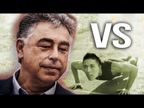 GM Yasser Seirawan vs GM Eric Hansen (Doing Pushups) BLITZ