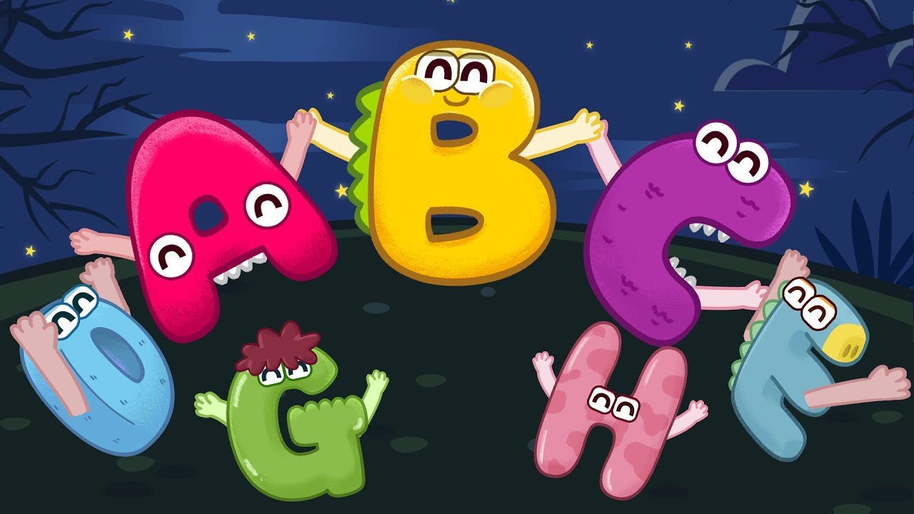 Ring a ring o roses action song with ABC monsters (Ring around the rosie)