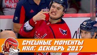 Самые курьёзные и смешные моменты НХЛ: декабрь 2017