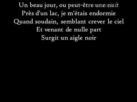 Barbara - L'Aigle noir - Paroles