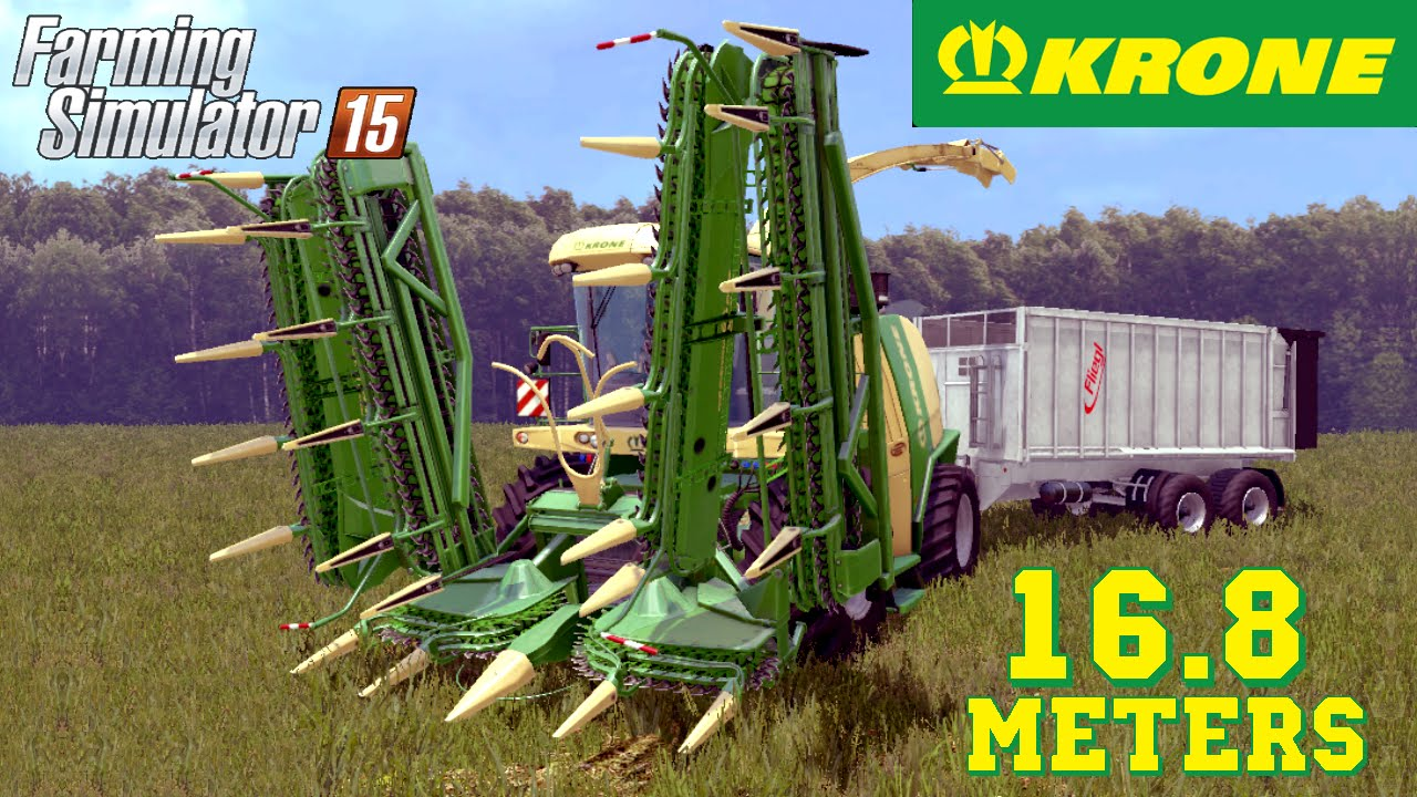 Farming Simulator 2015 mod harvester KRONE EASY COLLECT 3053