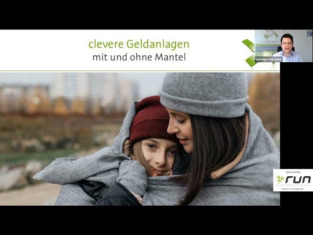 run präsentiert: Christian Schneider - clevere Geldanlagen mit und ohne Mantel