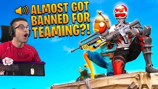 Fortnite almost BANNED me for teaming up with 2 other enemies...