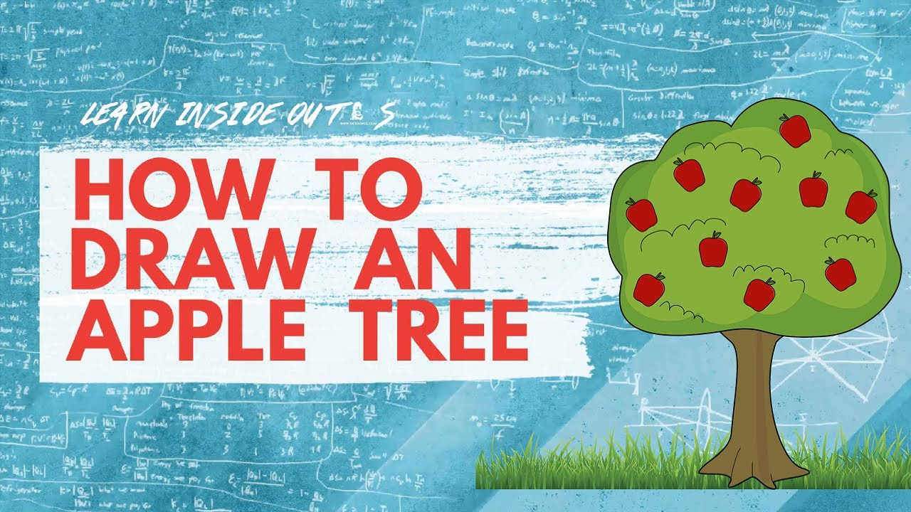How to draw an apple tree For Kids | Drawing Tutorials ...