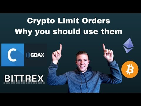 How To Use Limit Orders (on GDAX And Bittrex) And Why It's A Great Strategic Tool