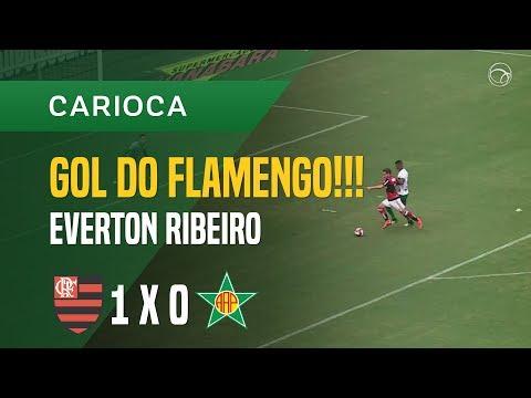 GOL (EVERTON RIBEIRO) - FLAMENGO X PORTUGUESA-RJ - 18/03 - CARIOCA 2018