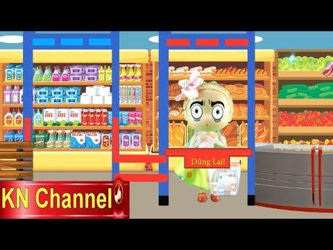 SIÊU THỊBÚP BÊ ĐI MUA BÁNH KẸO & KHÁM PHÁ BÍ MẬT MÃ VẠCH Supermarket for doll KN Channel